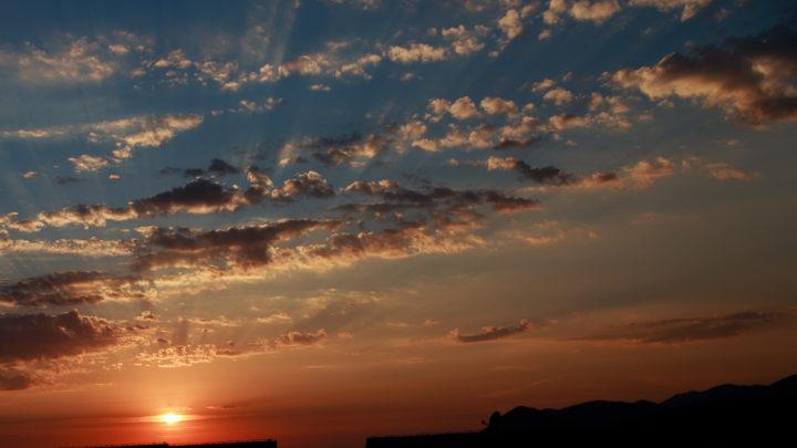 Coucher de soleil à Zadar (Croatie)