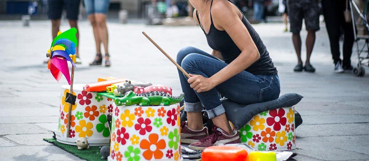 Ines, a drummer artist [Paris, juillet 2019]